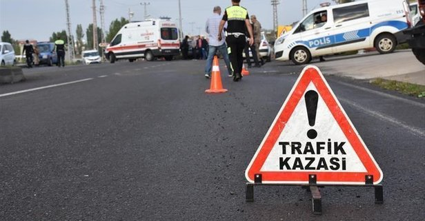 Kastamonu'da havaalanı yolunda kaza
