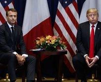 Trump ile kavga, etti Fransa karıştı!