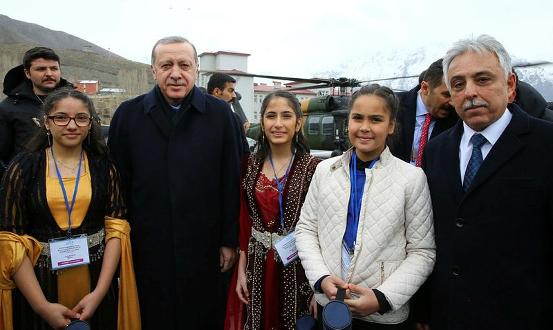 Hakkari'de Erdoğan coşkusu