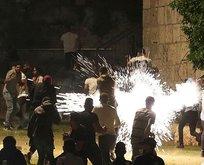 İsrail, Filistinlilere ses bombalarıyla saldırdı