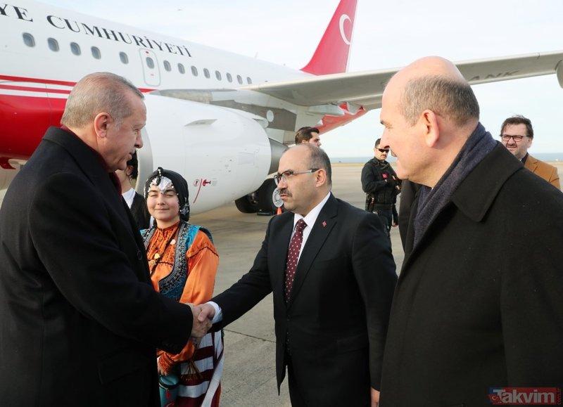 Trabzon'da Başkan Erdoğan'a sevgi seli!
