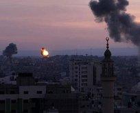 İsrailden Gazzeye hava saldırısı!