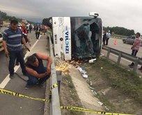 Samsun'da otobüs kaza yaptı: 46 asker yaralandı