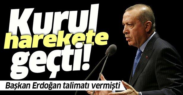 Başkan Erdoğan talimatı vermişti! Kurul harekete geçti