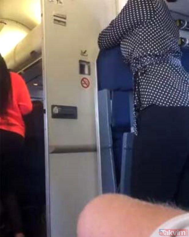 Uçak tuvaletinde mide bulandıran rezalet! Gizlice paylaşıldı