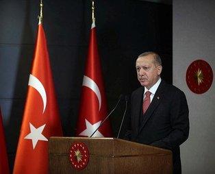 Başkan Erdoğan'dan terör örgütleri ve Esad rejiminin hamiliğine soyunanlara sert tepki