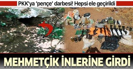 Terör örgütü PKK'ya 'pençe' darbesi! Çok sayıda silah ve mühimmat ele geçirildi