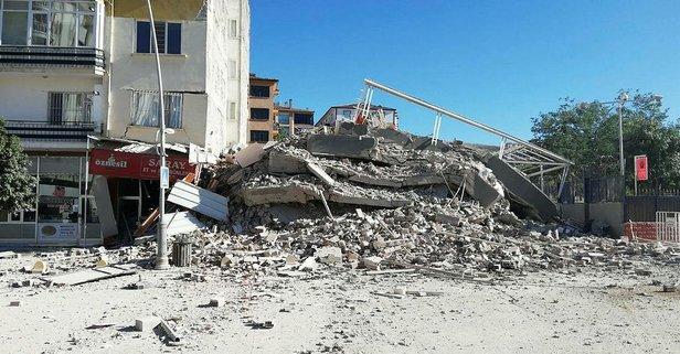 Malatya'da korkunç olay! Yıkım sırasında çöktü