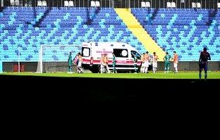 Adanaspor - Giresunspor maçında korku dolu anlar