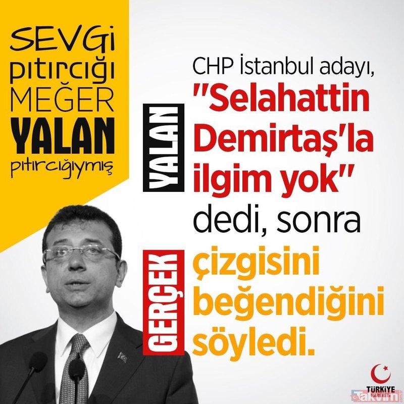 CHP'li Ekrem İmamoğlu'ndan yalan üstüne yalan! TT listesinde ilk sıraya yerleşti