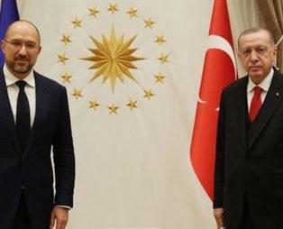 Son dakika: Başkan Erdoğan, Ukrayna Başbakanı Shmyhal'ı kabul etti