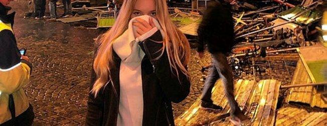 Paris'teki eylemlere Dmitri Peskov'un kızı Elizaveta Peskova da katıldı