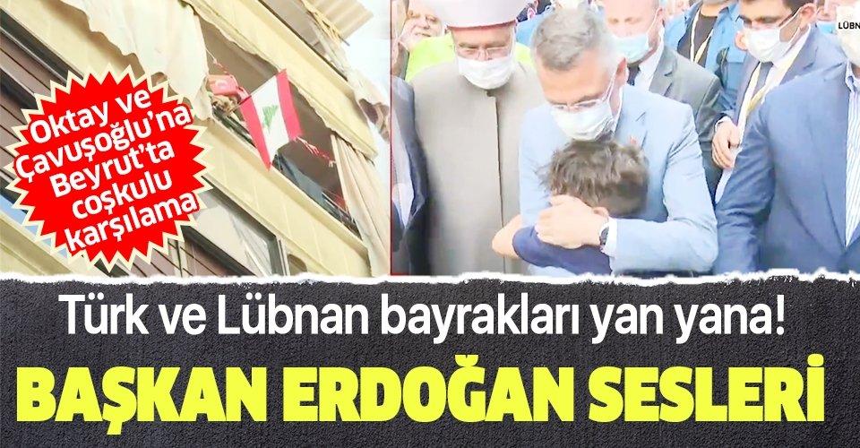 Beyrut'ta Recep Tayyip Erdoğan sesleri