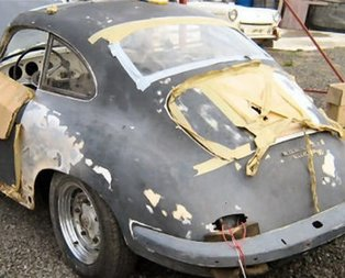 1955 model Porsche'yi öyle bir hale getirdi ki...