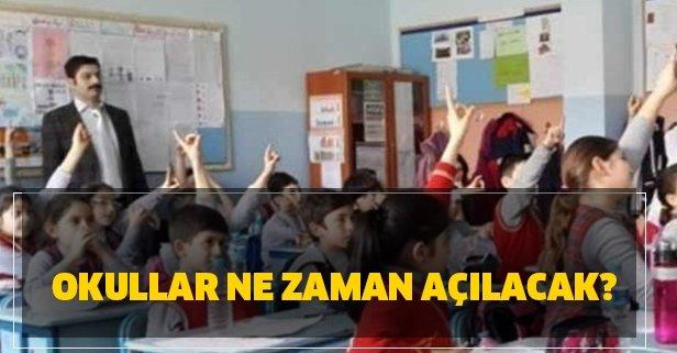 Okullar ne zaman açılıyor? 2020-2021 eğitim yılı hangi ayda başlıyor?