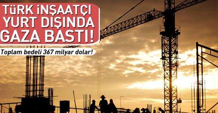 Türk inşaatçı yurt dışında gaza bastı