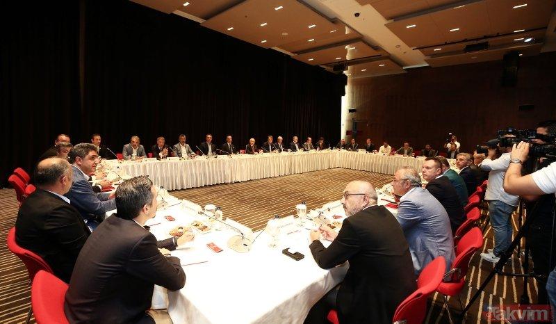 TFF Başkanı Nihat Özdemir ve Kulüpler Birliği Başkanı Fikret Orman açıklamalarda bulundu