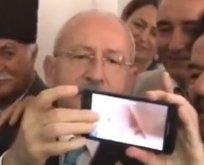 Kılıçdaroğlunun selfie çekme mücadelesi