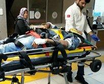 Eşekten düştü, ağır yaralandı