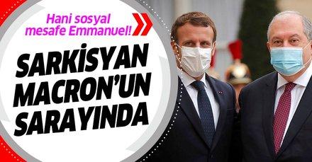 Macron, sarayında Ermenistan Cumhurbaşkanı Armen Sarkisyan ile görüştü