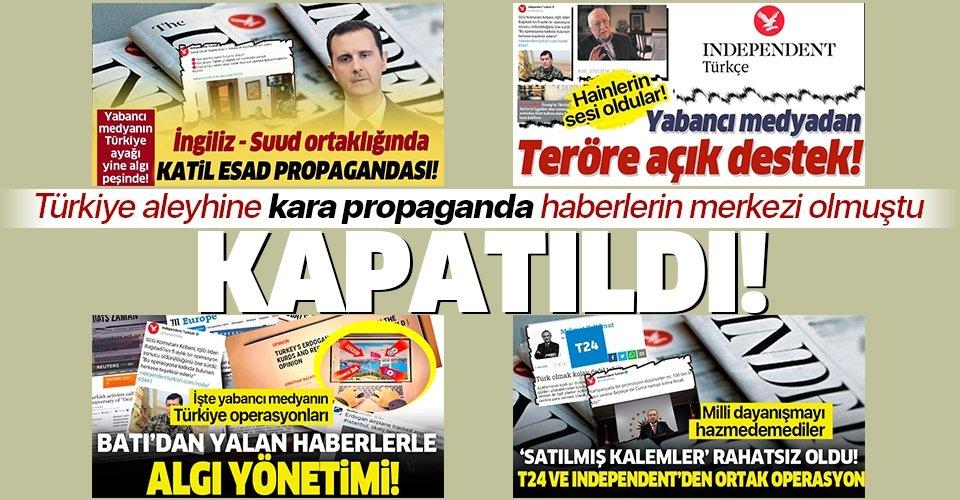 Türkiye aleyhine operasyon haberlere imza atan Independent Türkçe BTK kararıyla kapatıldı