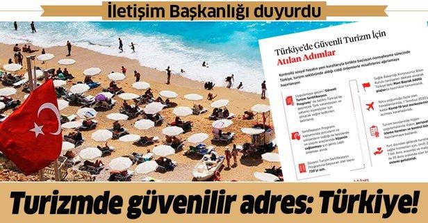 İletişim Başkanlığı duyurdu: İşte Türkiye'de güvenli turizm için atılan adımlar
