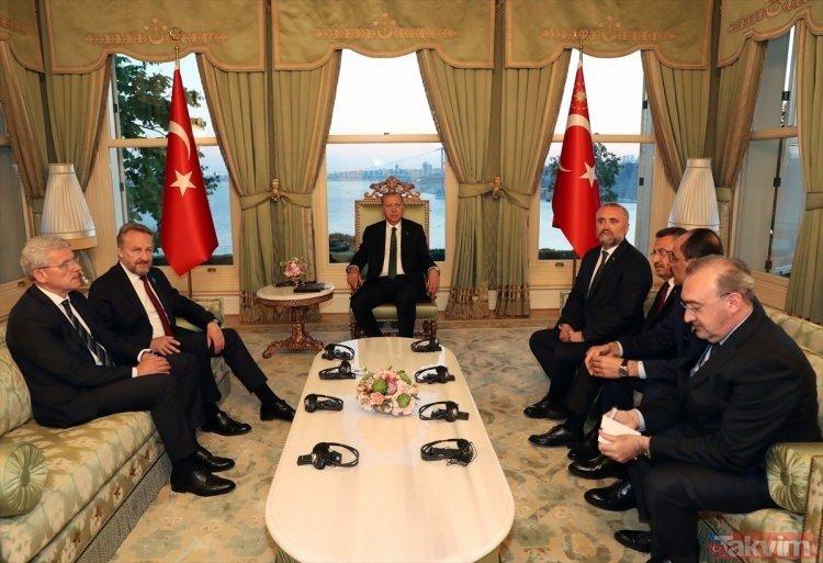 Başkan Erdoğan, yabancı konukları onuruna yemek verdi