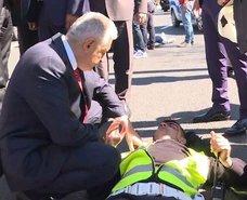 TBMM Başkanı Yıldırım, kaza yapan yaralılarla ilgilendi