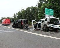 Anadolu Otoyolu'nda zincirleme kaza! 8 yaralı