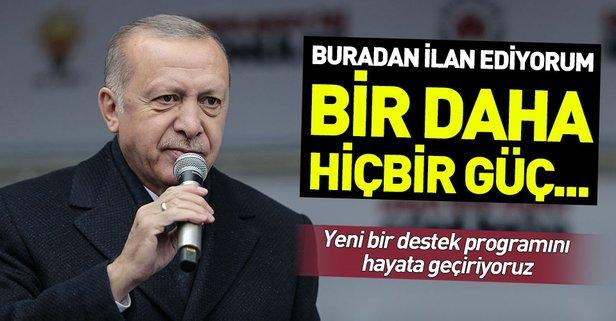 Başkan Erdoğan'dan terörle mücadele mesajı