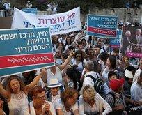 İsrail'de Filistinlilerle barış gösterisi