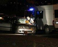 Zorla araçtan indirildi başka bir araç çarptı