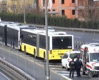 Okmeydanı'nda metrobüs kazası! Yaralılar var