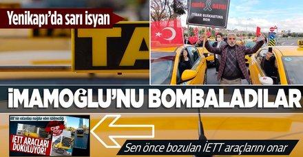Taksicilerden UKOME öncesi Yenikapı'da eylem