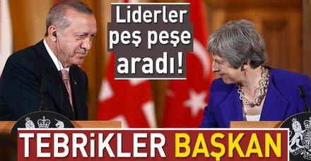 Dünya liderlerinden Türkiye'nin ilk 'Başkan'ı Erdoğan'a tebrik telefonları