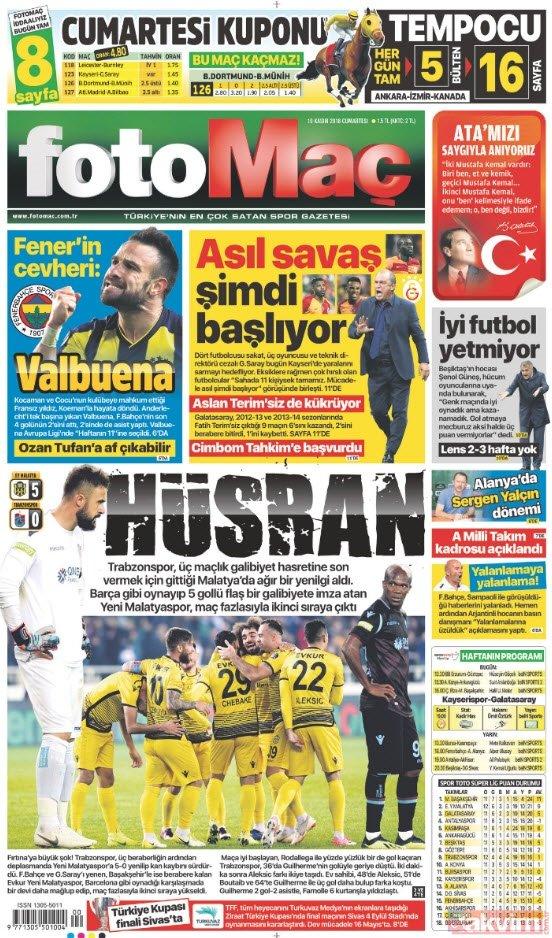 Günün öne çıkan gazete manşetleri | 10 Kasım 2018 Cumartesi