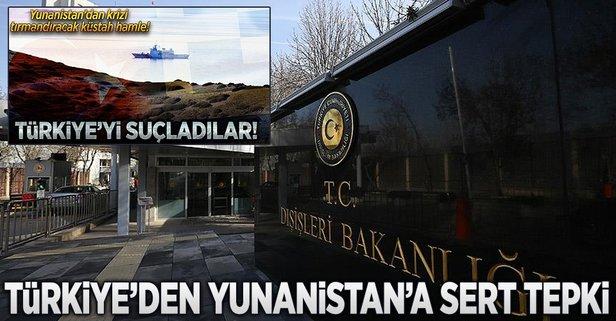 Türkiyeden Yunanistana sert tepki