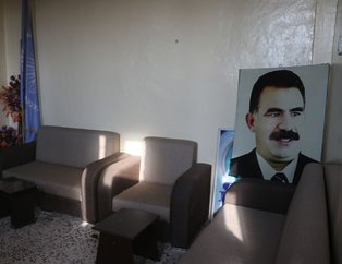 Rasulayn'da terör örgütünün kullandığı merkezde teröristbaşı Öcalan'ın posterleri