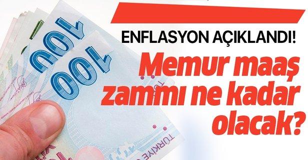 4 aylık rakama göre memurlar için enflasyon zammı oluştu