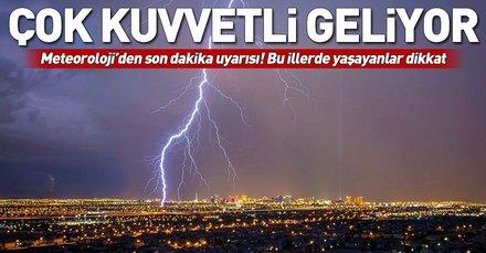 Meteoroloji'den son dakika yağış uyarısı! Bu illerde yaşayanlar dikkat
