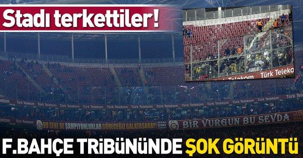 Fenerbahçe taraftarı stadı terk etti!