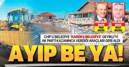 CHP'li Avcılar Belediyesi 'kardeş belediye' Geyikli'yi AK Parti kazanınca verdiği araçları geri aldı