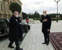 Başkan Erdoğan Aliyev tarafından törenle karşılandı