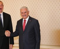 Aliyev, Binali Yıldırım'ı kabul etti