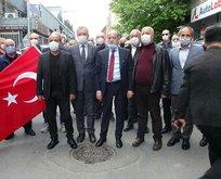 Yanardağ'a siyah çelenkli protesto
