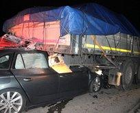 TEM'de korkunç kaza! Tırın altına girdi