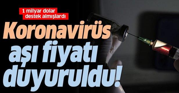 ABD'li ilaç şirketi koronavirüs aşısı fiyatını duyurdu!