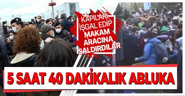 Rektöre 4 saat 50 dakikalık abluka