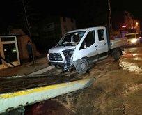 Arnavutköy'de feci kaza: 1'i polis, 2 yaralı