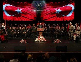 Başkan Recep Tayyip Erdoğan Gazileri ağırladı